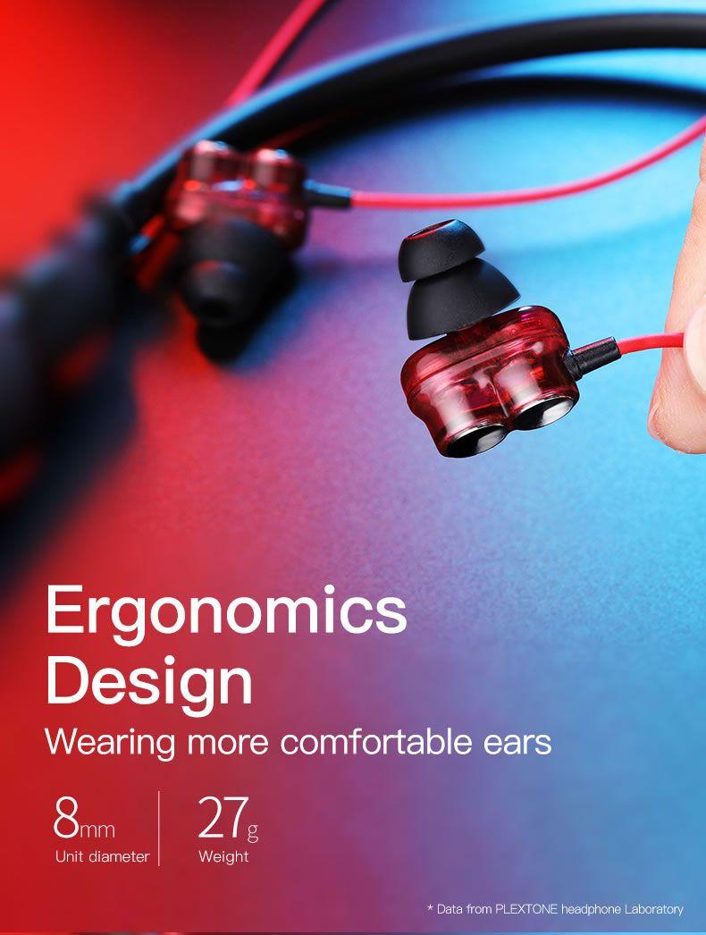 Plextone Bx345 2dd Dynamic Bluetooth Neckband Headphones (6)