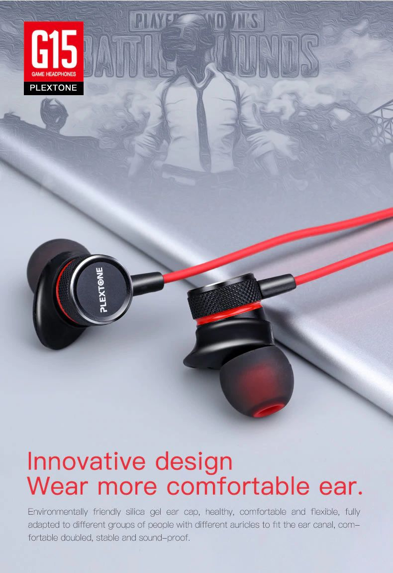 Plextone G15 Gaming Earphones With Mic (11)