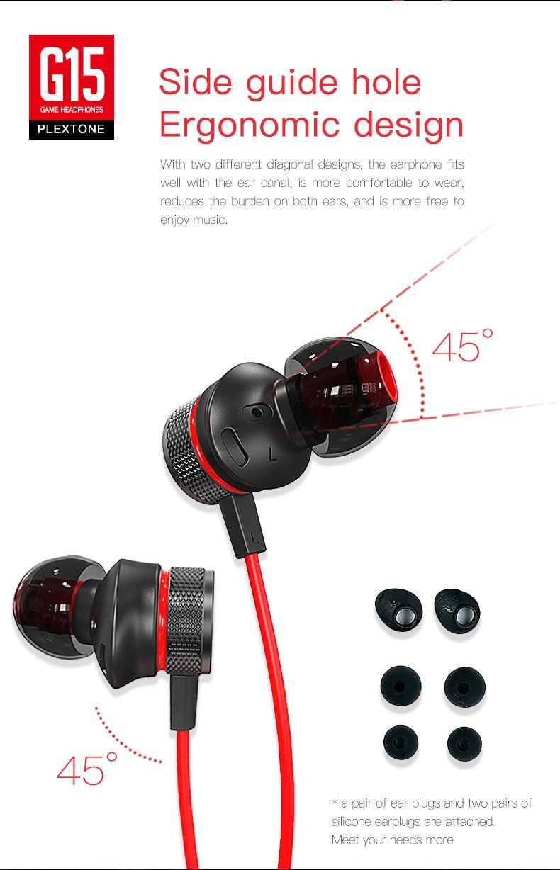 Plextone G15 Gaming Earphones With Mic (4)