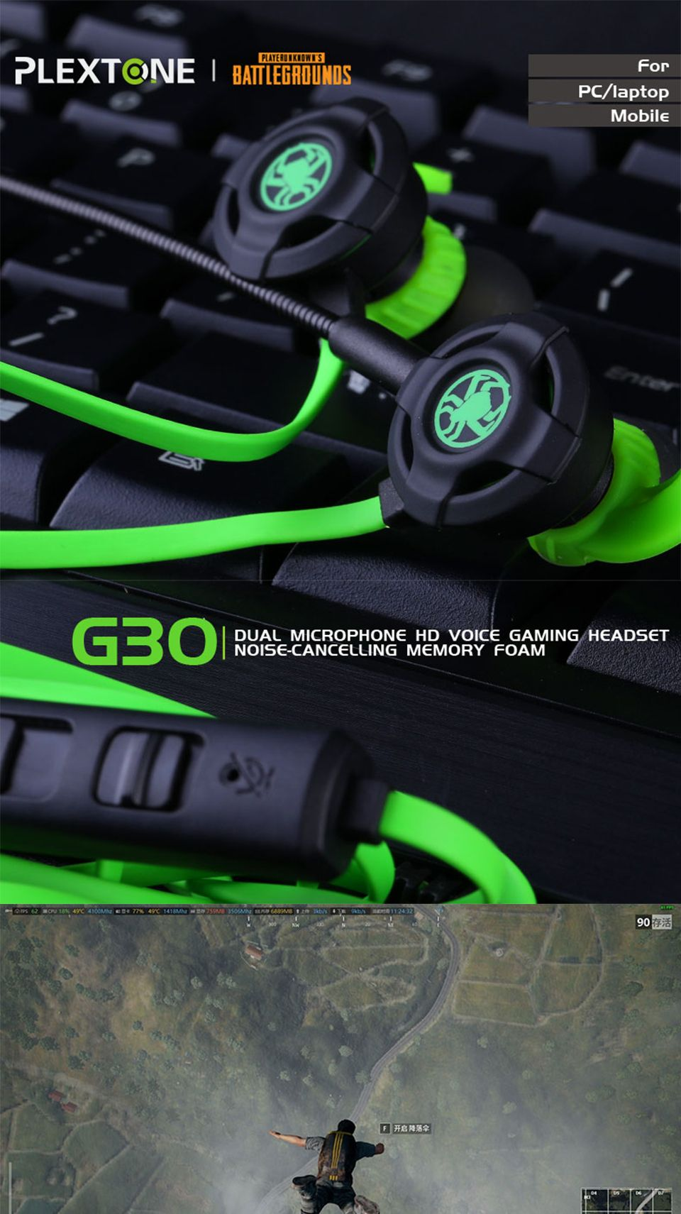 Plextone G30 Gaming Headset With Microphone (15)