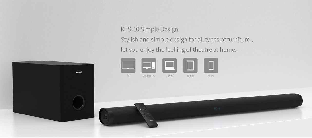 Remax Rts 10 Audio Soundbar Wireless Home Theater Speaker (7)