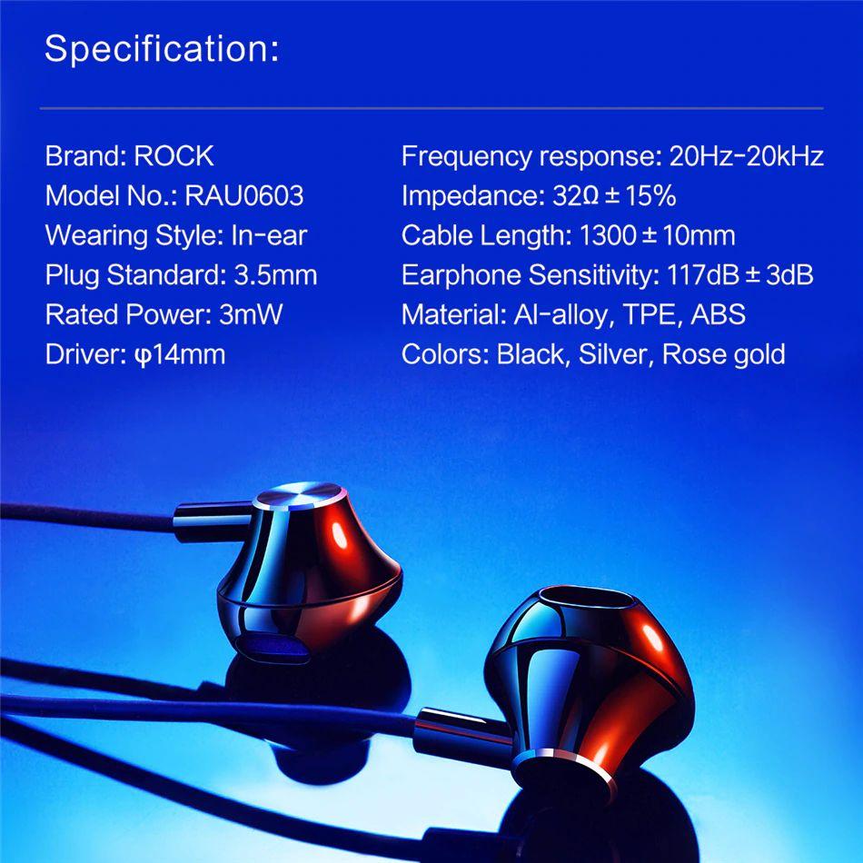 Rock Mufree H1 Stereo Earphone (15)
