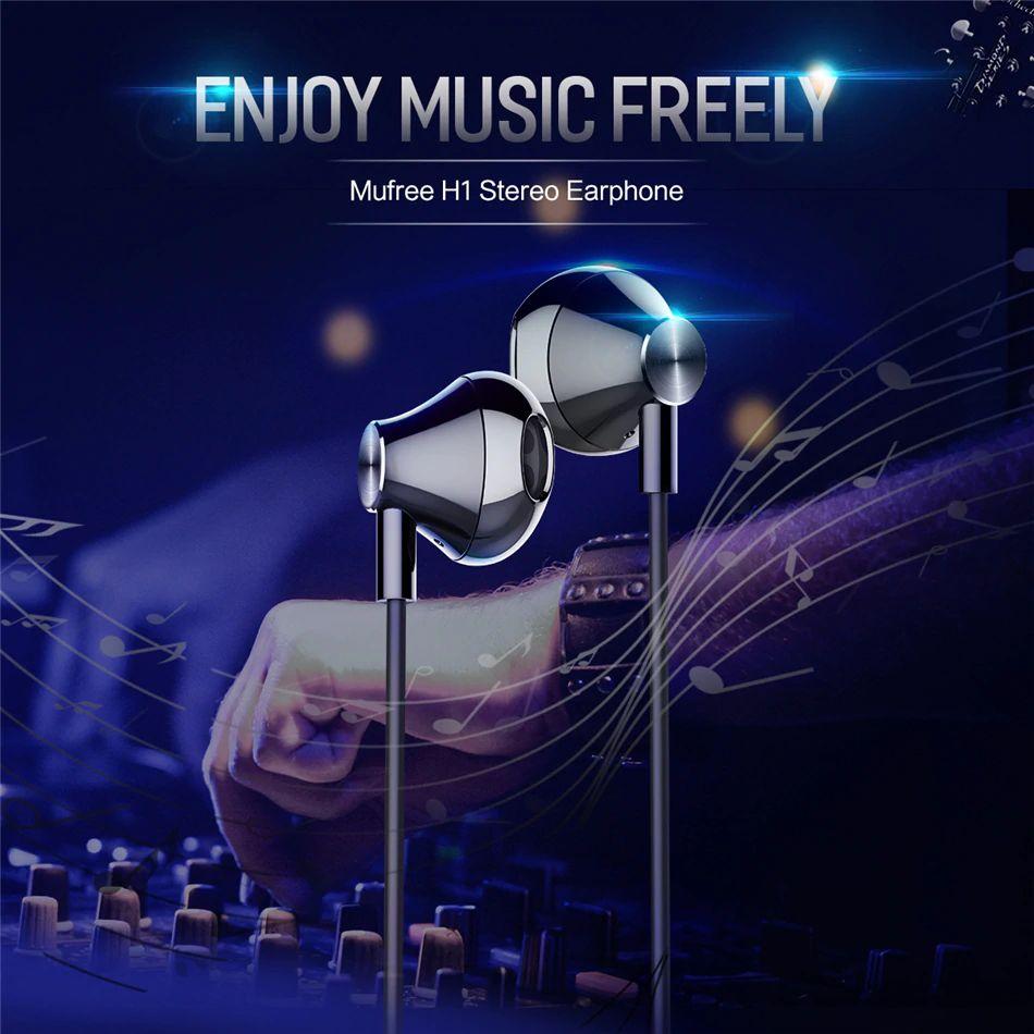 Rock Mufree H1 Stereo Earphone (2) 1