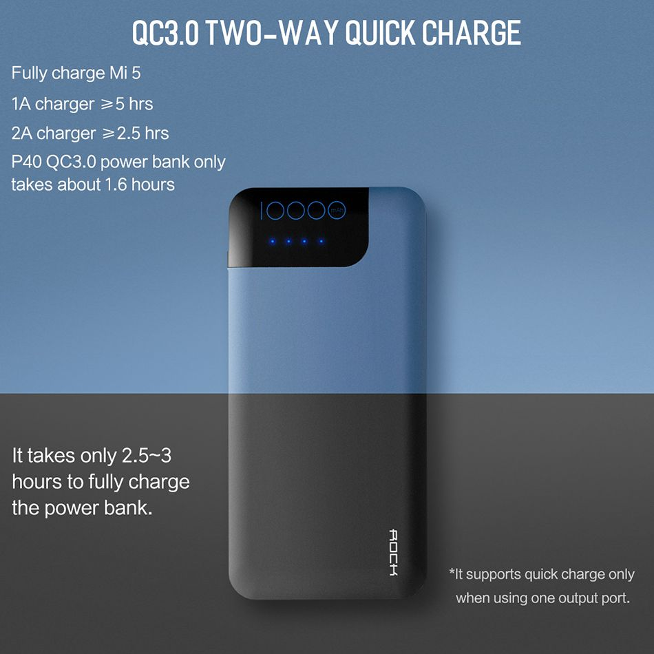 Rock Space P40 Qc3 0 Fast Charger 10000mah Power Bank (11)