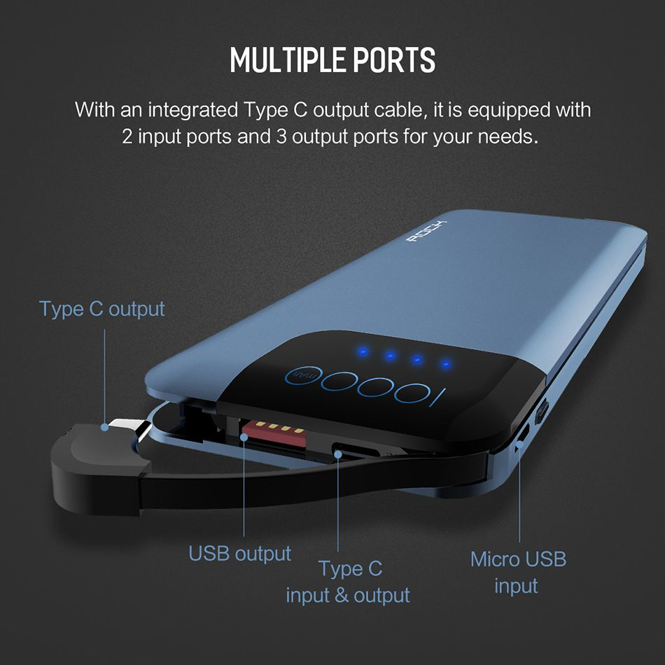 Rock Space P40 Qc3 0 Fast Charger 10000mah Power Bank (15)