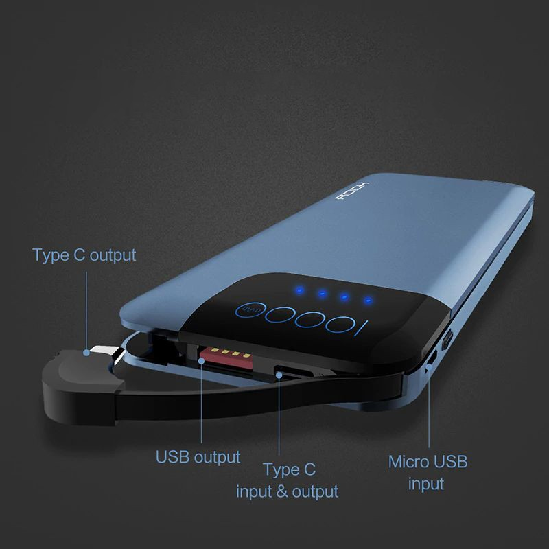 Rock Space P40 Qc3 0 Fast Charger 10000mah Power Bank (1) 1