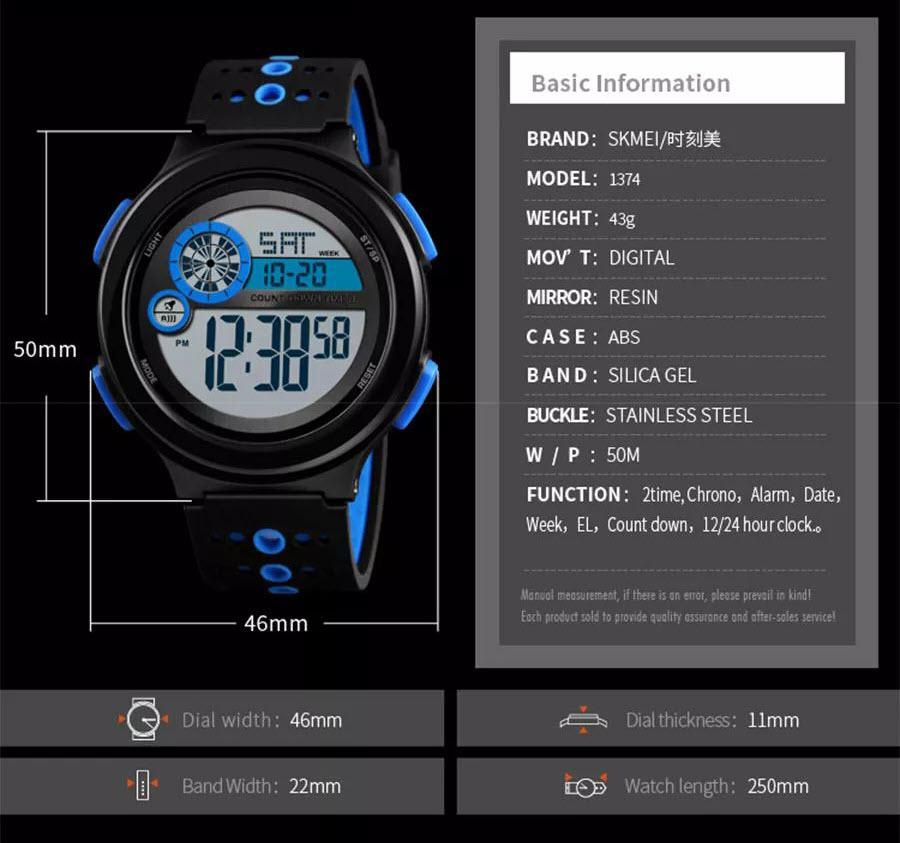 Skmei 1374 Luminous Display Waterproof Digital Watch (3)