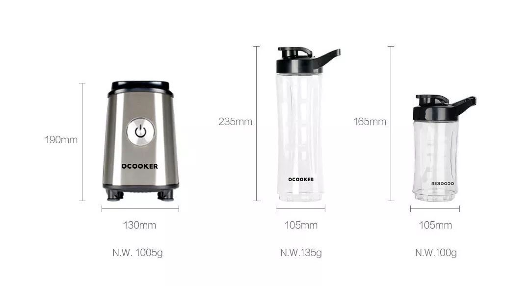 Xiaomi Cd Bl01 Ocooker High Speed Blender With 300ml And 600 Ml Cups (1)