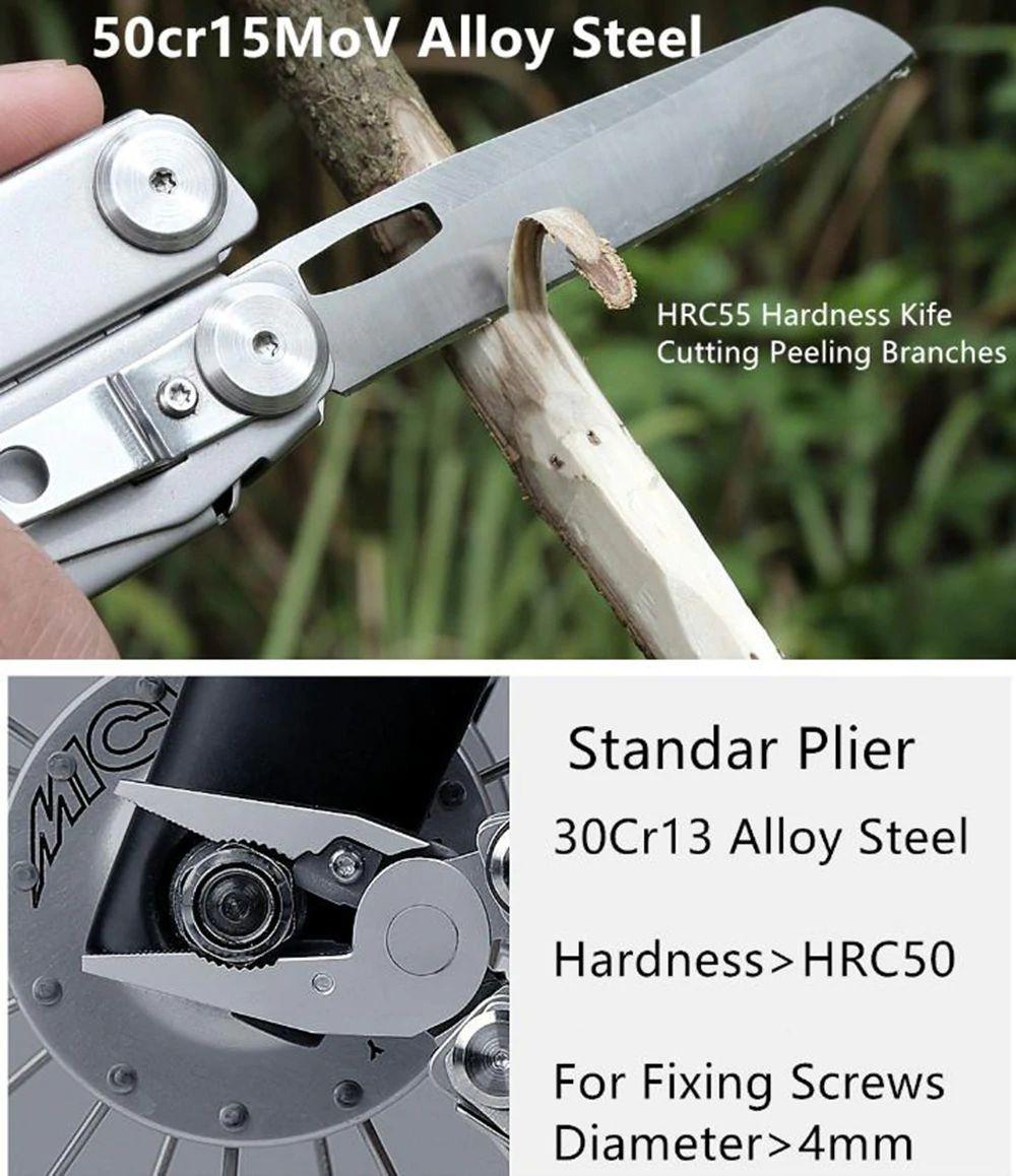 Xiaomi Huohou Multi Function Knife 15 Functions Folding Knife Bottle Opener Screwdriver Pliers (15)