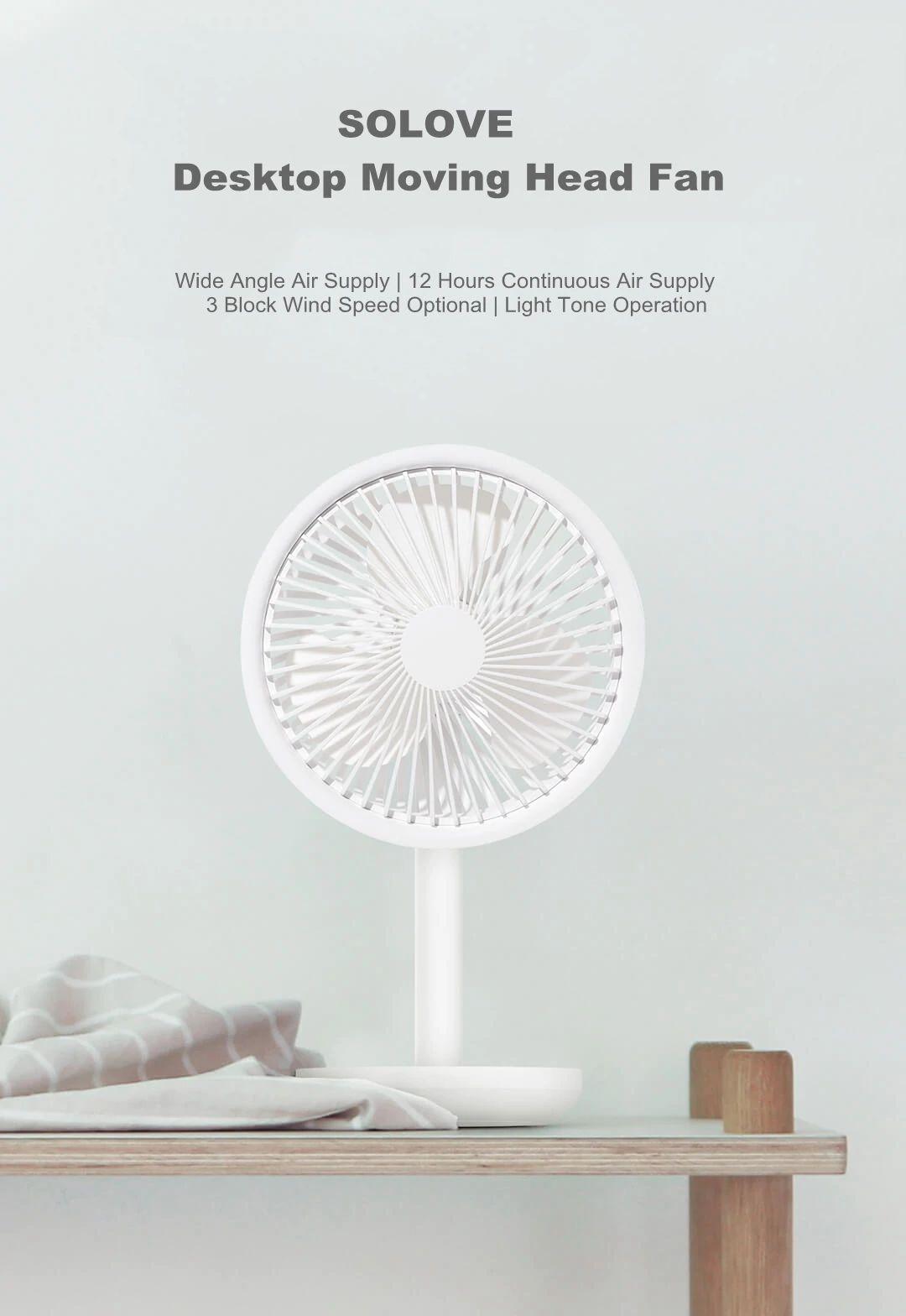 Xiaomi Mijia Solove Usb Desktop Fan 4000mah Battery Capacity (3)