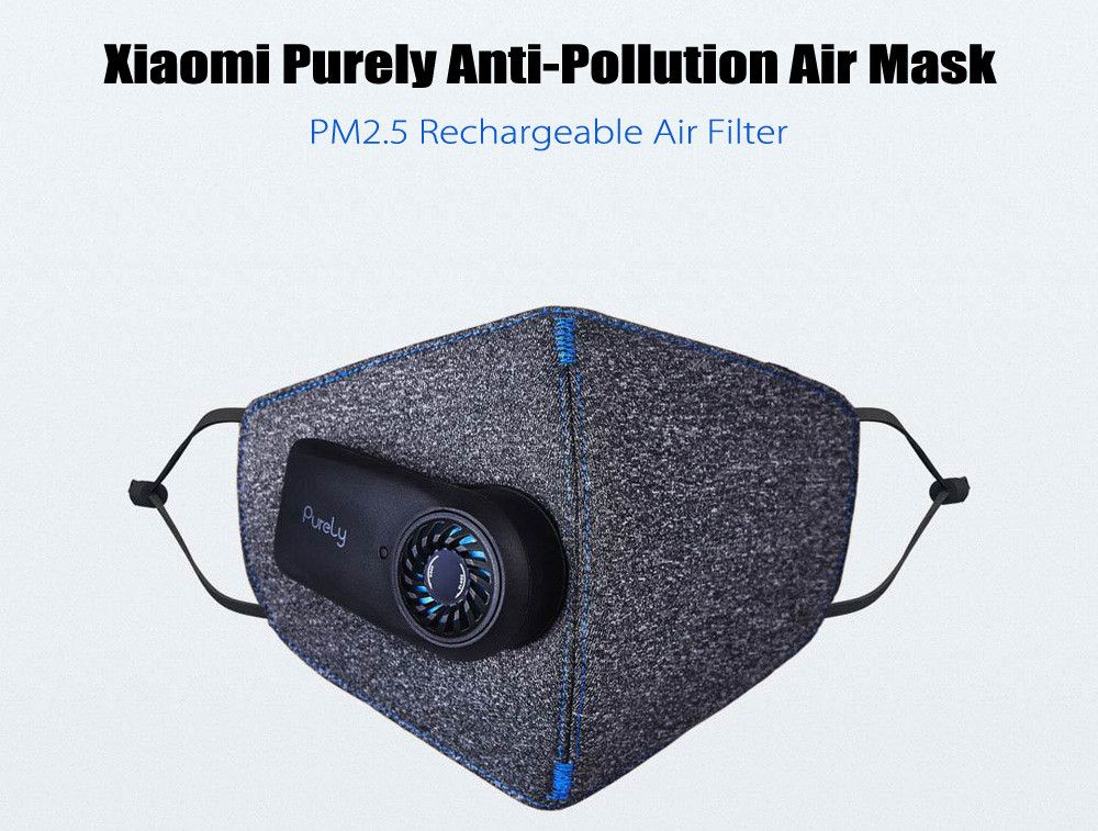 Xiaomi Purely Mask Kn95 Anti Pollution With Pm2 5 550mah Battreies Rechargeable Filter (11)