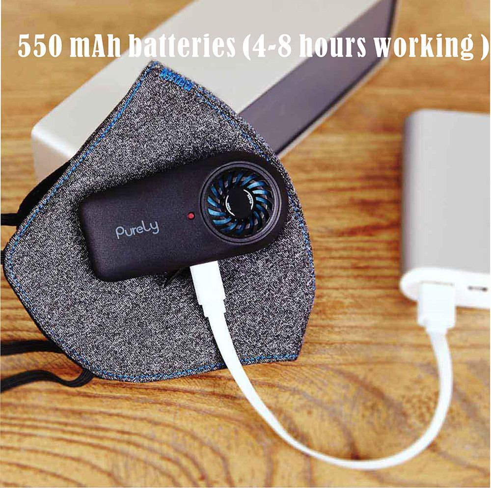 Xiaomi Purely Mask Kn95 Anti Pollution With Pm2 5 550mah Battreies Rechargeable Filter (2)