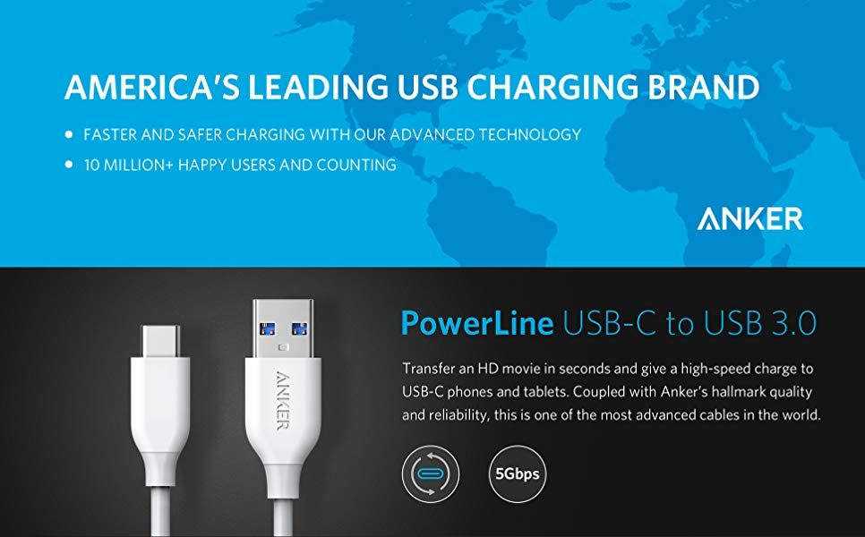 Anker Powerline Usb C To Usb 3 0 Cable 3ft (2)