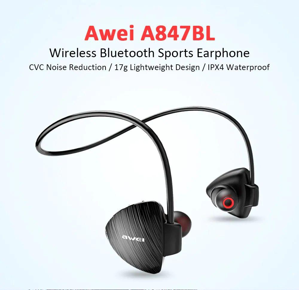 Awei A847bl Wireless Sweatproof Bluetooth Neckband (1)