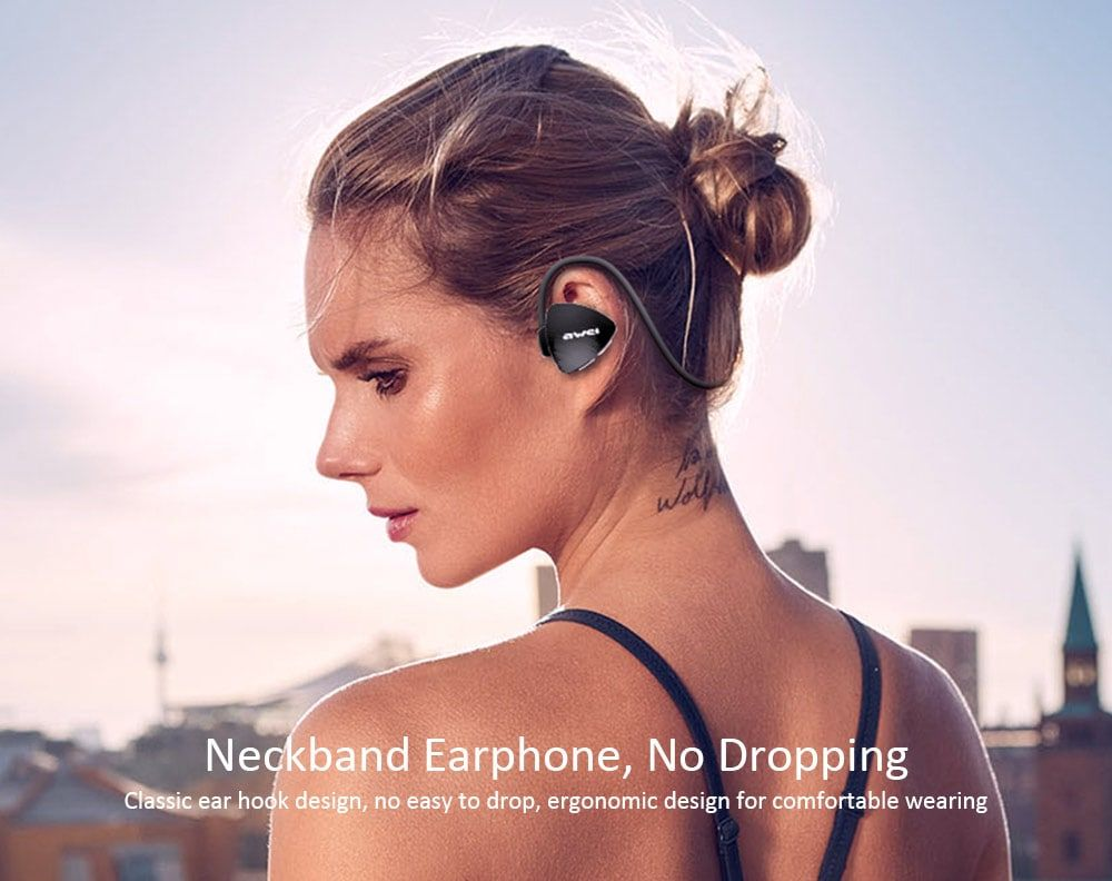 Awei A847bl Wireless Sweatproof Bluetooth Neckband (6)