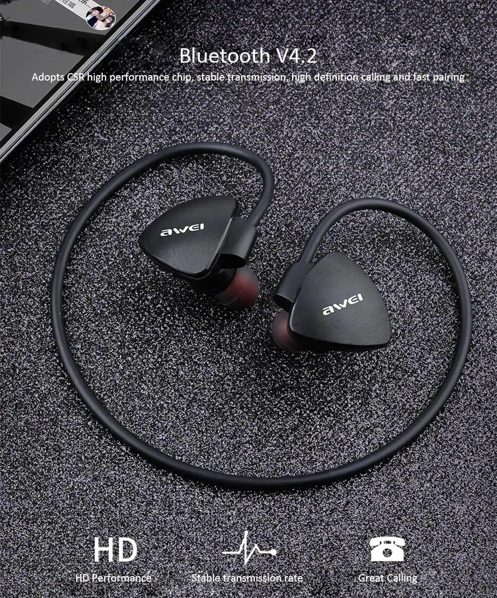 Awei A847bl Wireless Sweatproof Bluetooth Neckband (7)