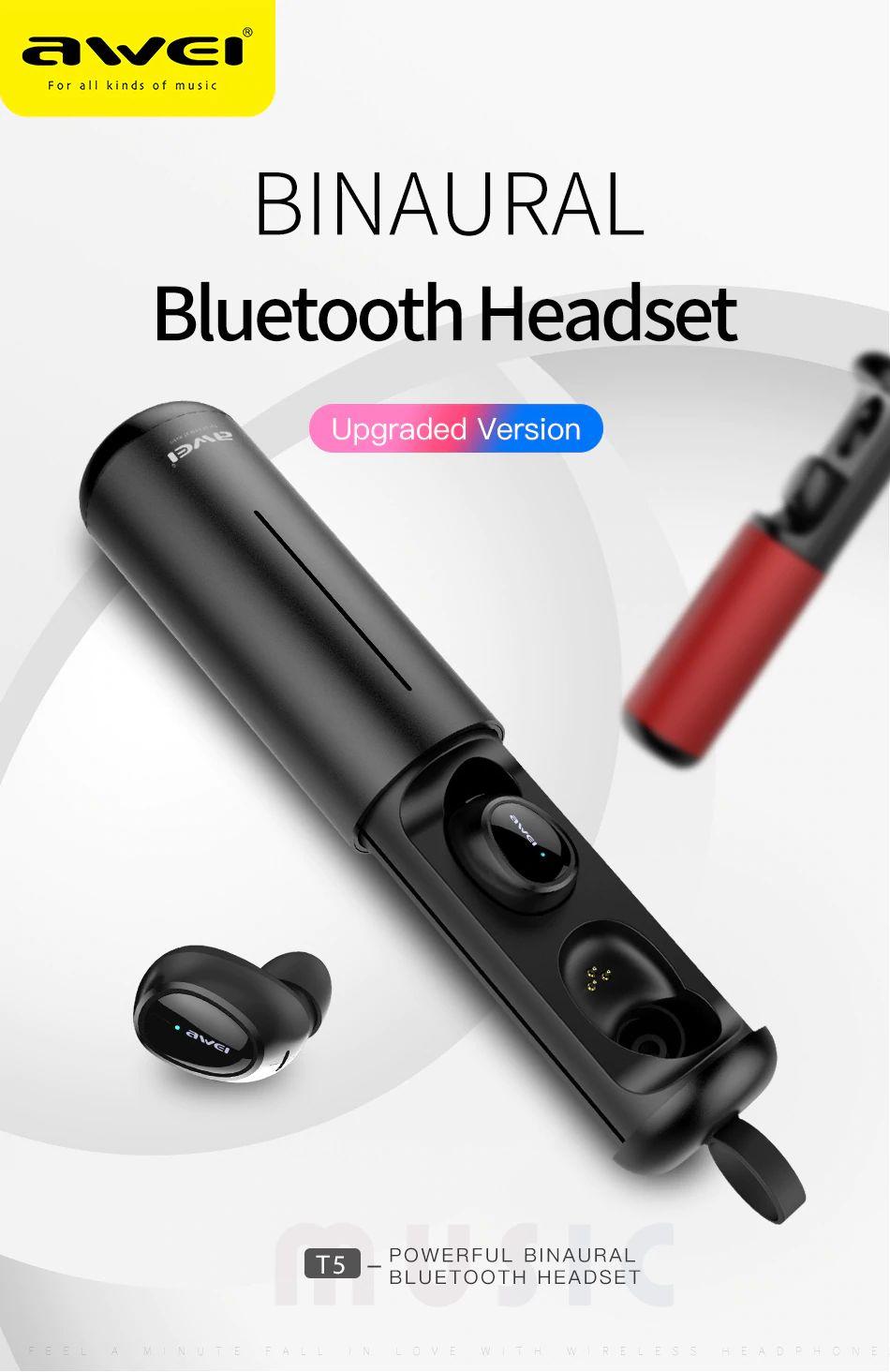 Awei T5 Tws Bluetooth Earphones (1)