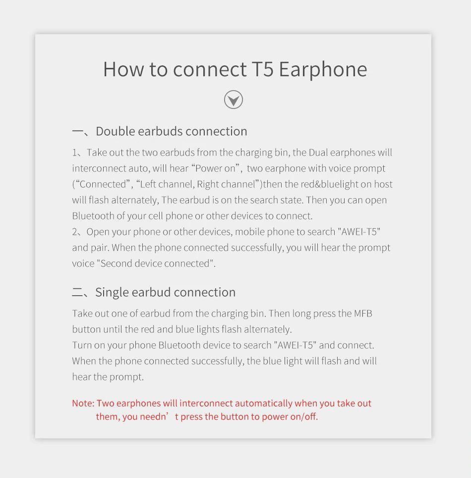Awei T5 Tws Bluetooth Earphones (7)