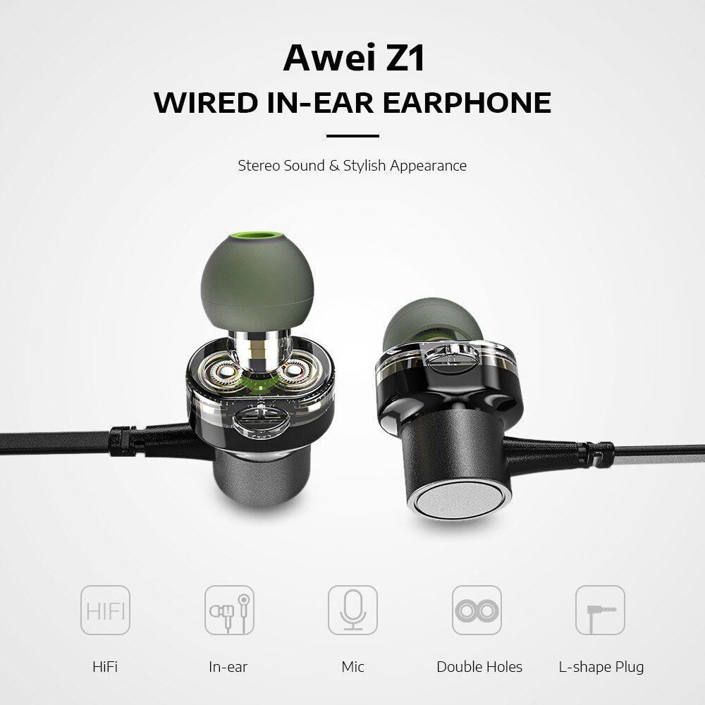 Awei Z1 In Ear Dual Dynamic Earphones (1)