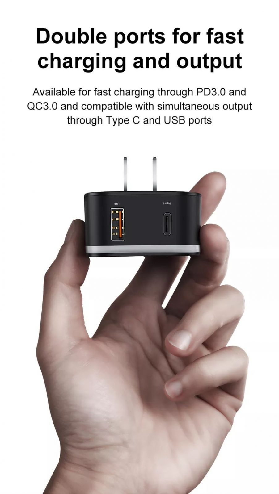 Baseus 2 In 1 Global Conversion Charger 18w (1)