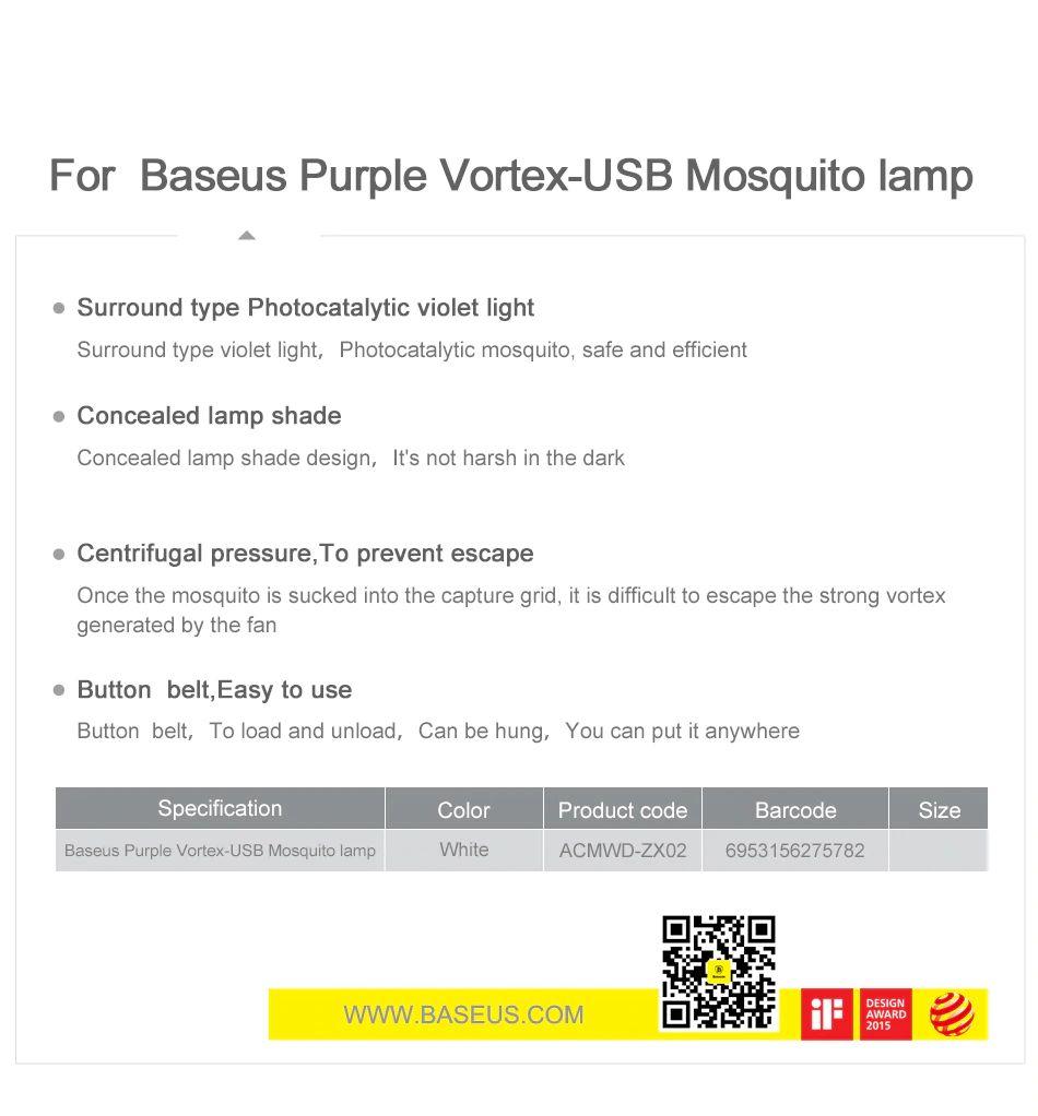 Baseus Mosquito Killer Lamp Usb (8)