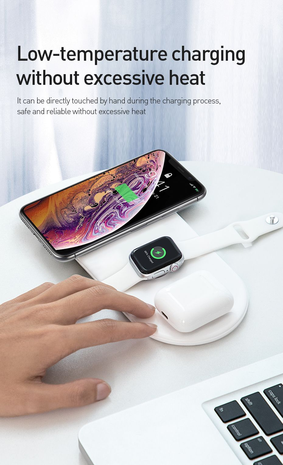 Baseus Smart 3 In 1 Qi Wireless Charger For Iphone Apple Watch Airpods (15)