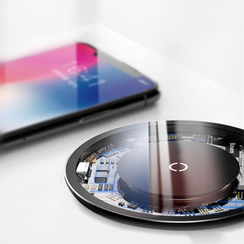 Baseus Ultra Slim Transparent Wireless Charger (9)