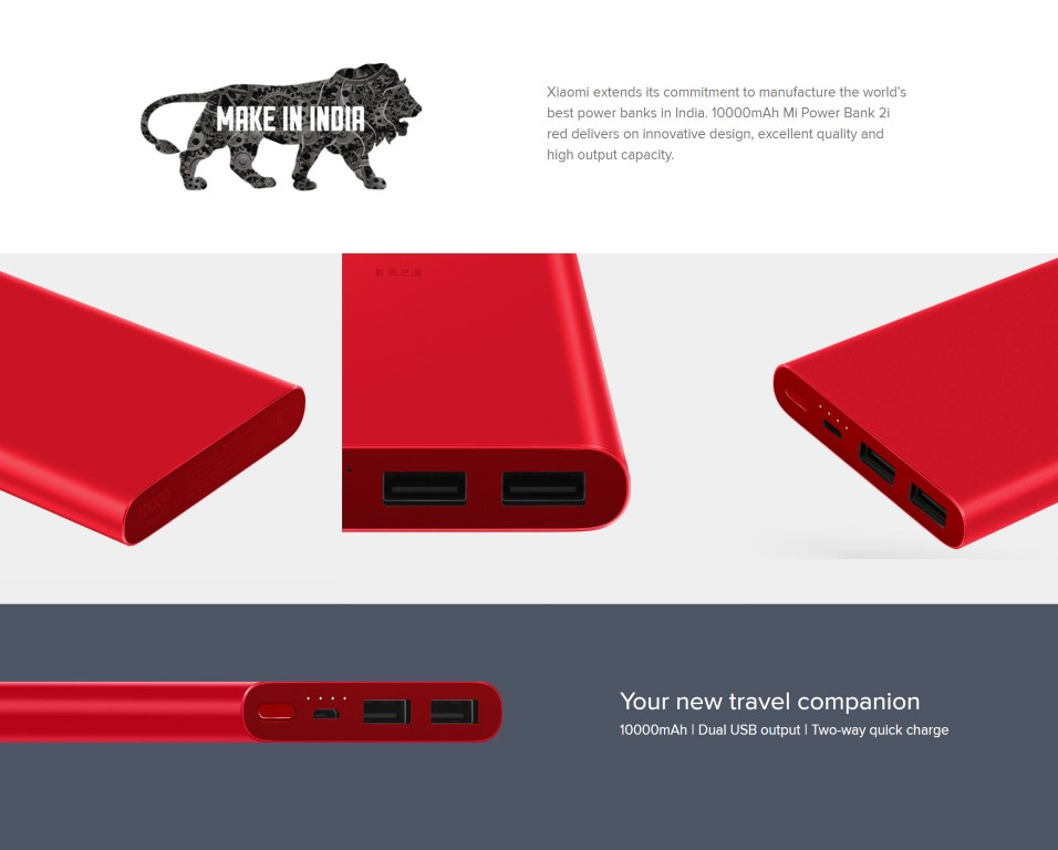 Mi 10000mah Power Bank 2i Red (2)
