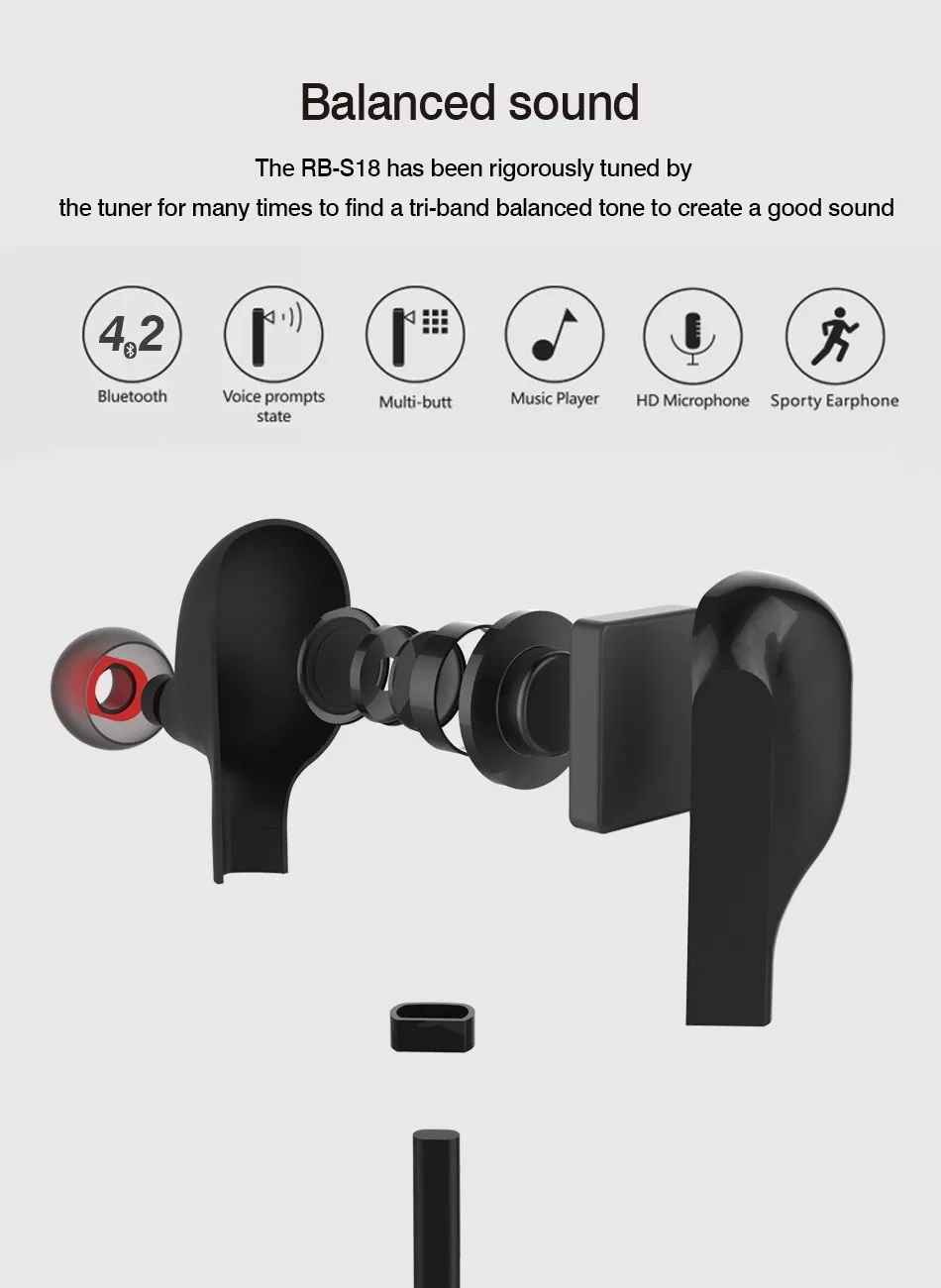 Remax Rb S18 Magnetic Wireless Bluetooth (6)