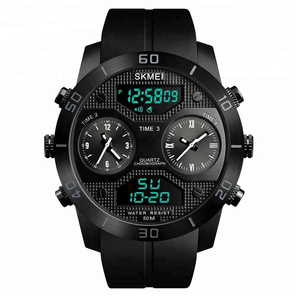 Skmei 1355 Waterproof Chronograph Digital Analog Watch (1)