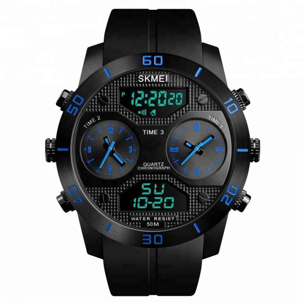 Skmei 1355 Waterproof Chronograph Digital Analog Watch (2)