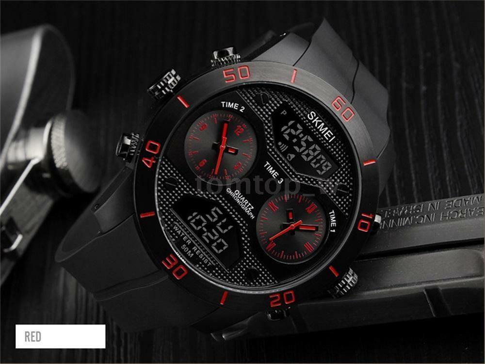 Skmei 1355 Waterproof Chronograph Digital Analog Watch (3)