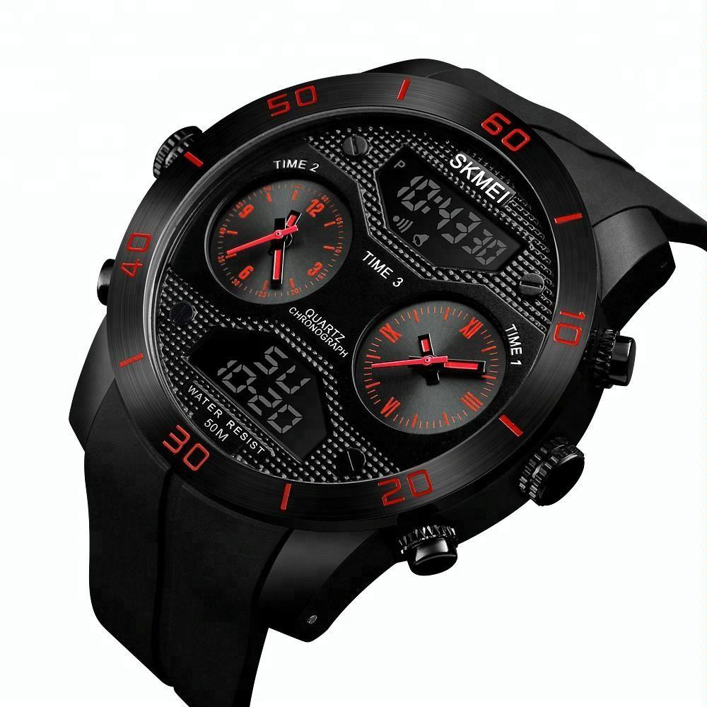 Skmei 1355 Waterproof Chronograph Digital Analog Watch (3)