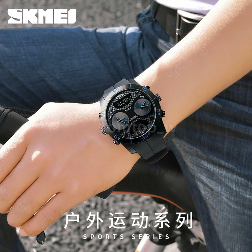 Skmei 1355 Waterproof Chronograph Digital Analog Watch (4)
