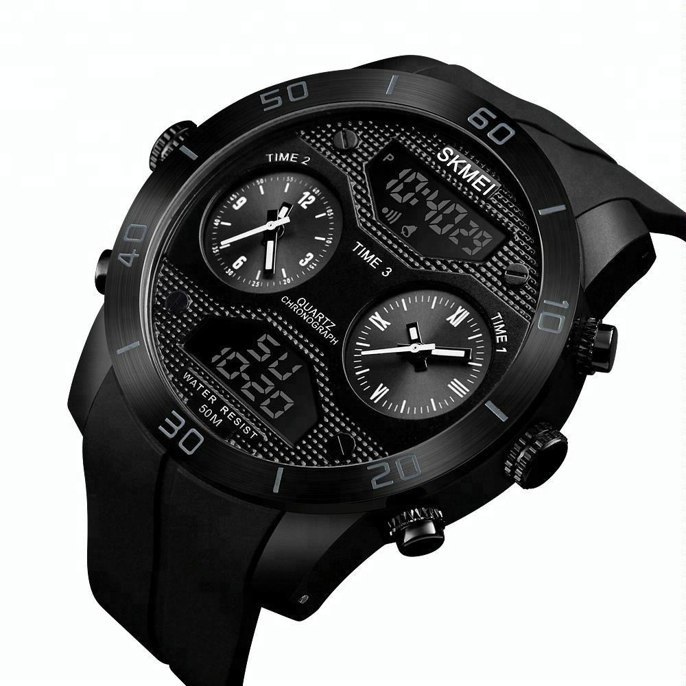 Skmei 1355 Waterproof Chronograph Digital Analog Watch (4)