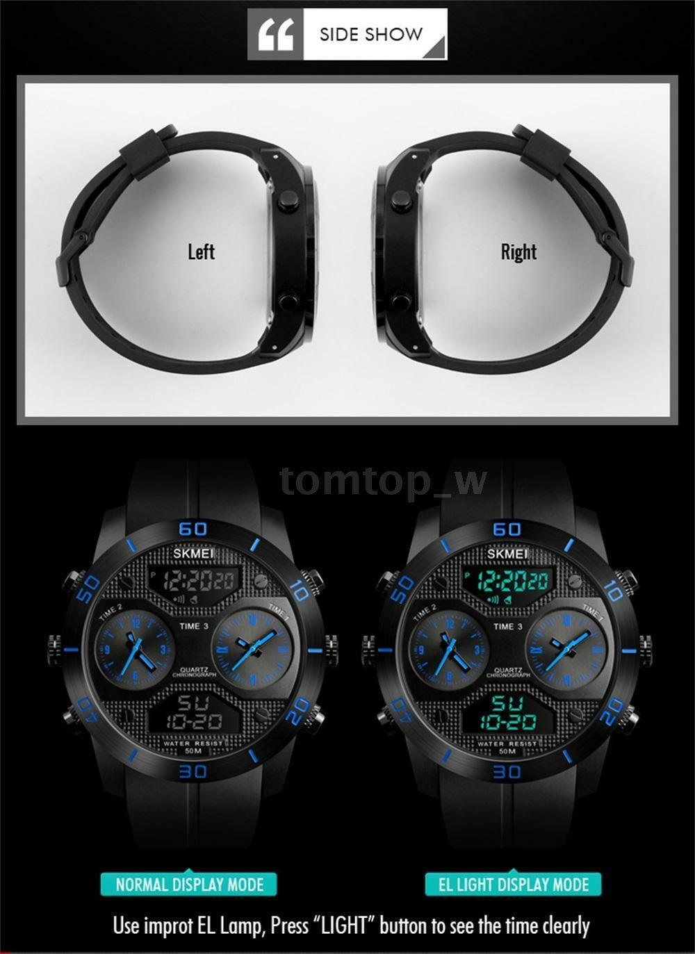 Skmei 1355 Waterproof Chronograph Digital Analog Watch (6)
