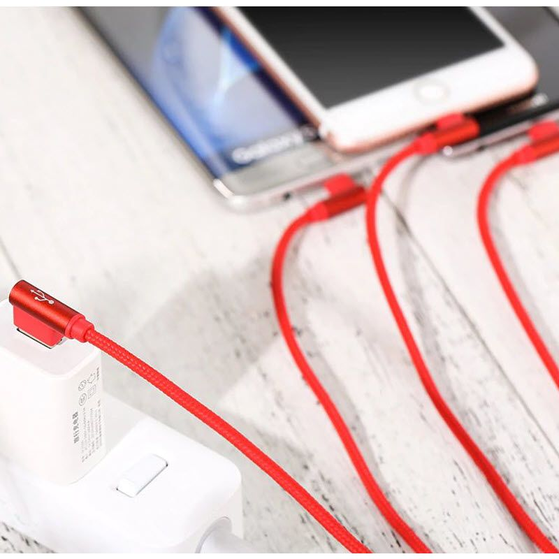 Usams 3 In 1 Type C Micro Usb Lighting 90 Degree Cable (8)