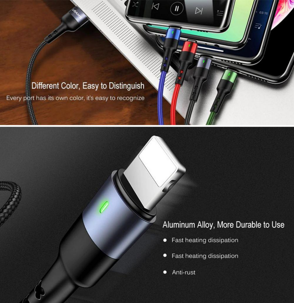 Usams U26 4in1 Braided Charging Cable (1)
