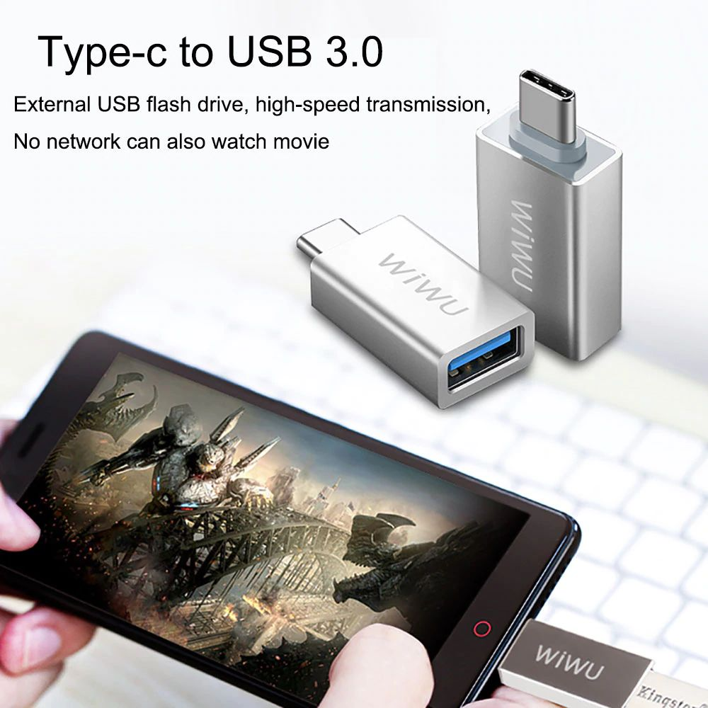 Wiwu Z600 Otg Cable Adapter For Iphone Android Converter (5)
