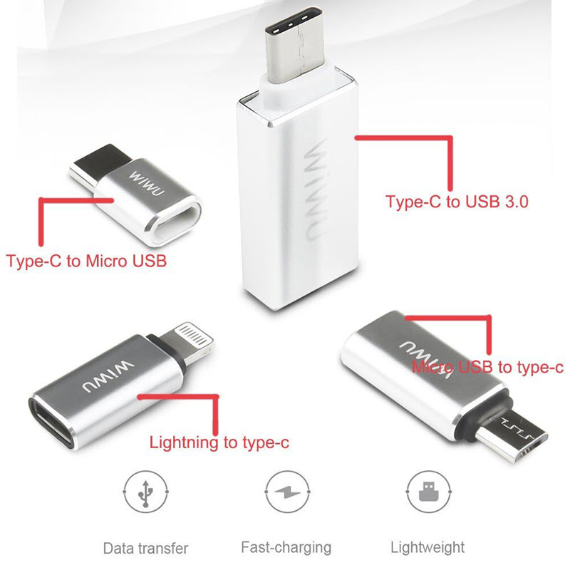 Wiwu Z600 Otg Cable Adapter For Iphone Android Converter (6)