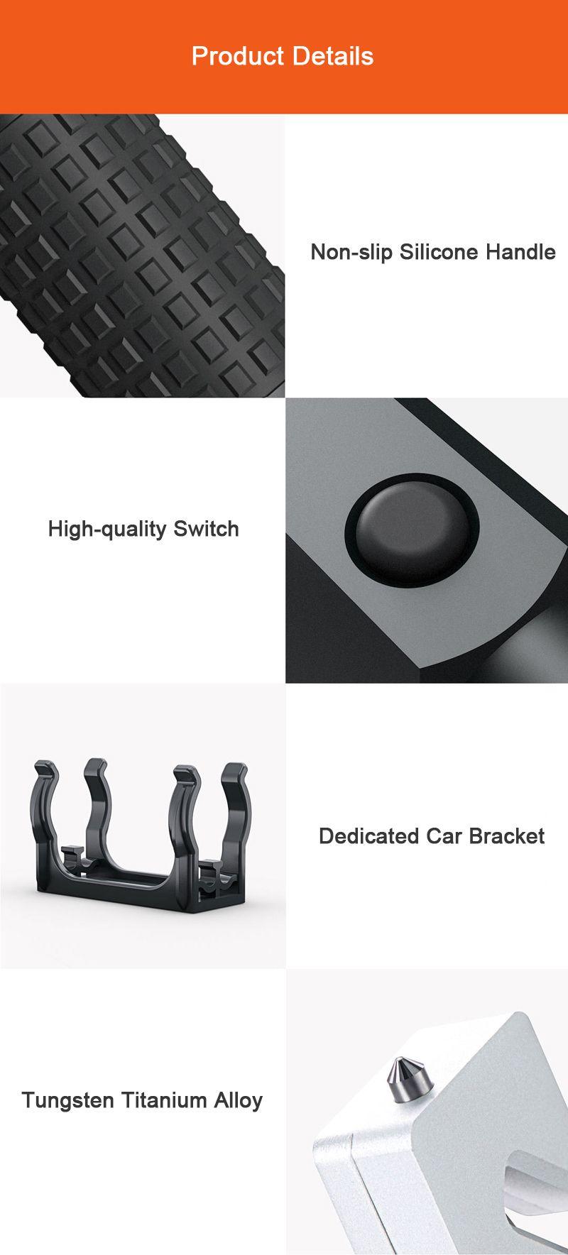 Xiaomi 4 In 1 Leao A10 Led Flashlight Car Safety Hammer (5)