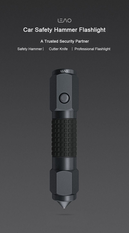 Xiaomi 4 In 1 Leao A10 Led Flashlight Car Safety Hammer (8)