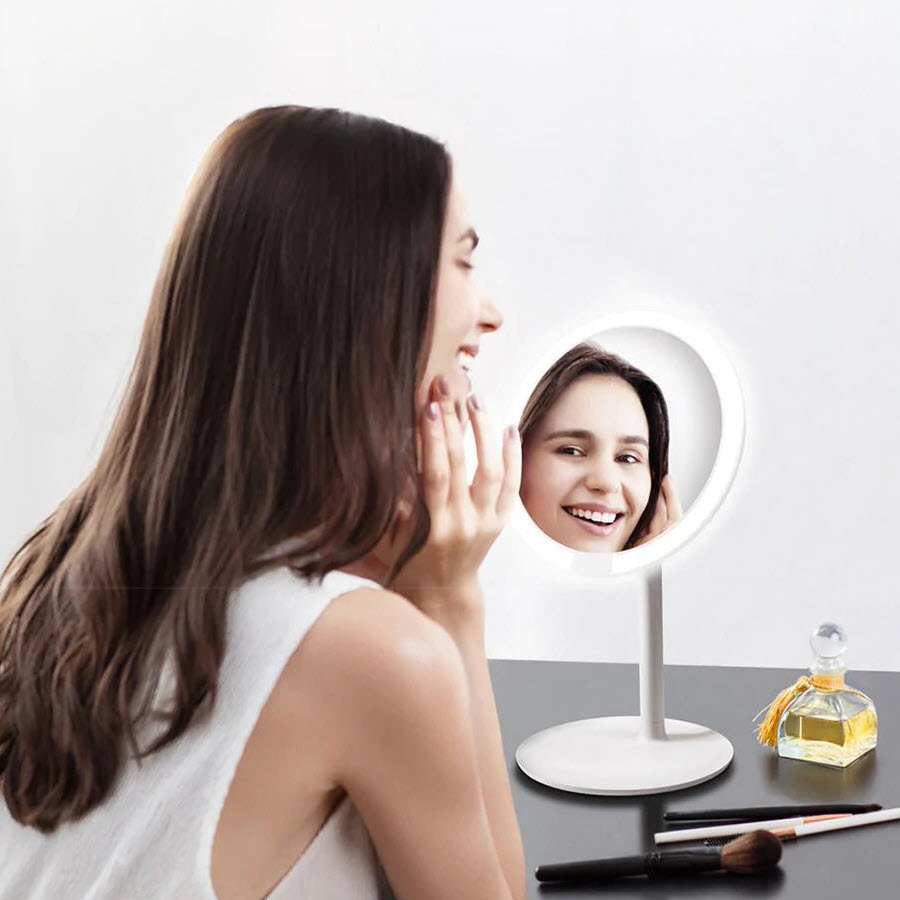 Xiaomi Amiro Led Lighted Makeup Mirror With Rechargeable Battery (1)