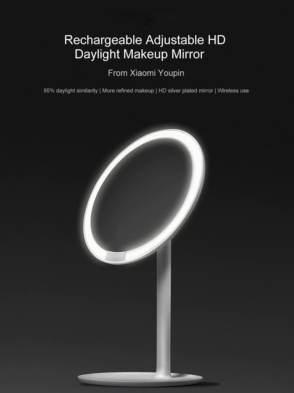 Xiaomi Amiro Led Lighted Makeup Mirror With Rechargeable Battery (9)