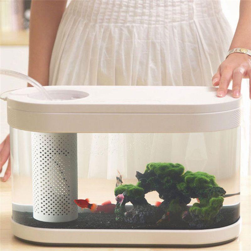 Xiaomi Geometry Fish Tank Transparent Aquarium (5)