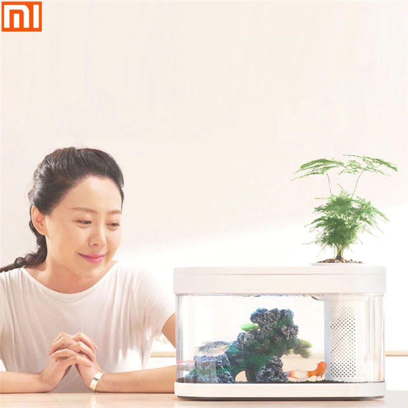 Xiaomi Geometry Fish Tank Transparent Aquarium (6)