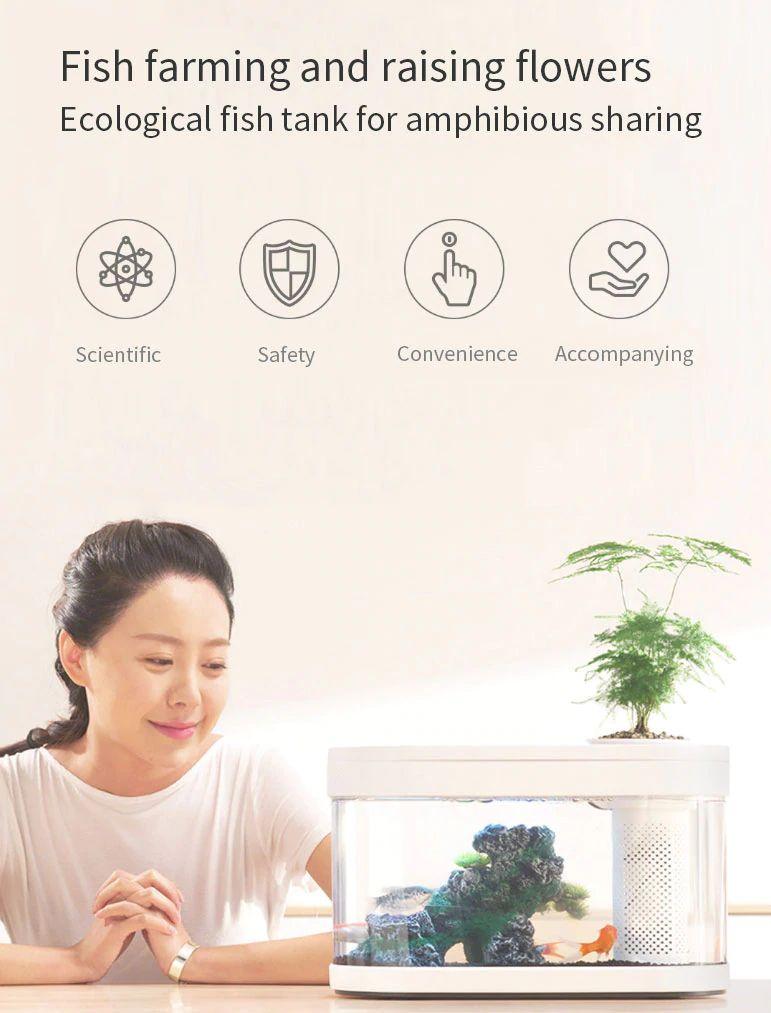 Xiaomi Geometry Fish Tank Transparent Aquarium (7)