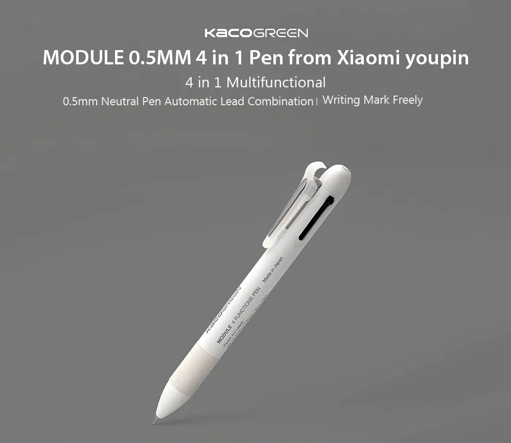 Xiaomi Kaco 4 In 1 Multifunction Pens 3 Color And Mechanical Pencil (2)