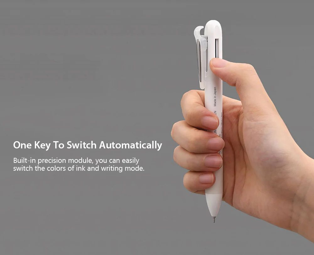 Xiaomi Kaco 4 In 1 Multifunction Pens 3 Color And Mechanical Pencil (3)