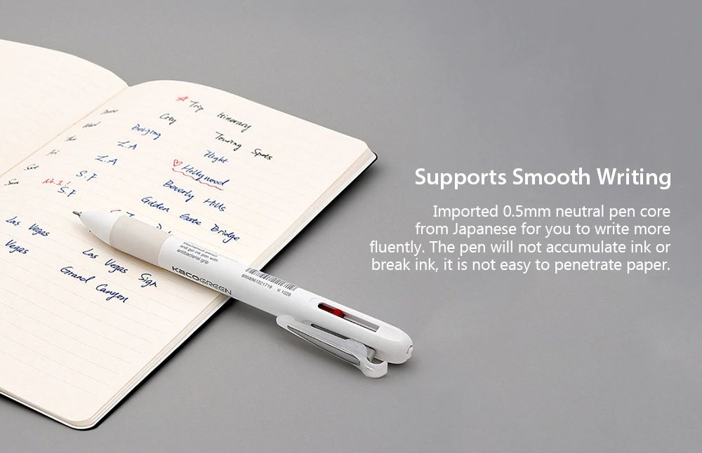 Xiaomi Kaco 4 In 1 Multifunction Pens 3 Color And Mechanical Pencil (4)